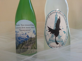 Make your own book club book wine labels!