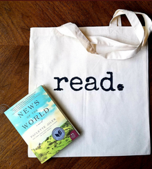 Go Beyond Book Club summer read with book bag