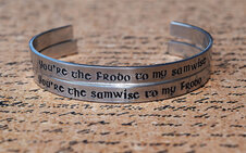 Lord of the Rings bracelet for the book lover on Etsy