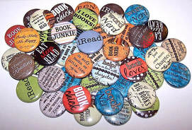Book lover pins on go beyond book club