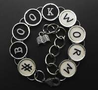 book charm bracelet on Etsy for a book lover
