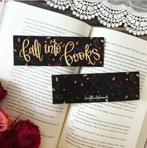 Fall into books bookmarks on Go Beyond Book Club