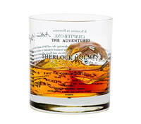 Sherlock Holmes glass on Go Beyond Book Club